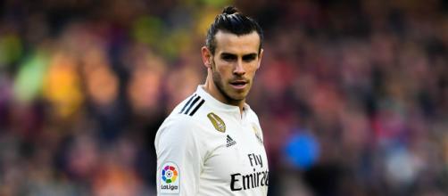 Bale, jugando un partido con el Real Madrid
