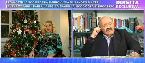 Da sinistra Isabella Mayer e Maurizio Costanzo