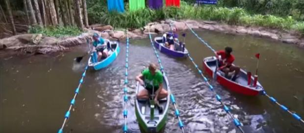 Campmates compete to save themselves from the first elimination (Image credit: I'm A Celebrity...Get Me Out Of Here!/ YouTube.com)