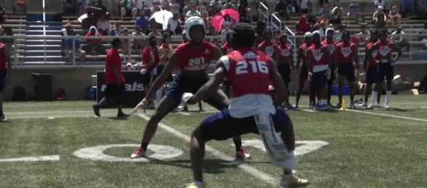 Huskers going after Winston Wright Jr. [Image source: Rivals Camp Series/YouTube]
