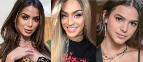 Anitta, Pabllo Vittar e Bruna Marquezine