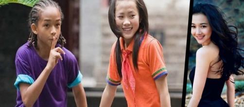 Antes e depois dos principais atores do filme Karatê Kid lançado em 2010.(Via: Filme Karatê kid 2010 e Instagram/wenwen.han)