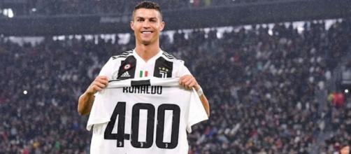 La Juventus hace un homenaje a Cristiano Ronaldo por sus 400 goles en ligas europeas