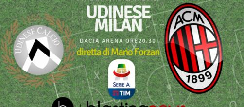 Diretta Serie A: Udine Milan su Blastingnews