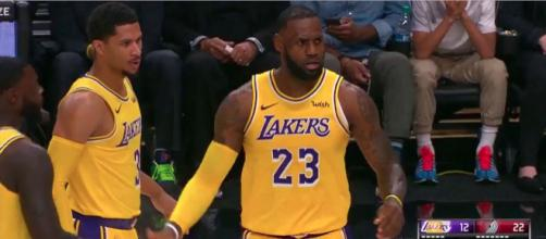 LeBron James' 28 points helped lead the Lakers to their fourth win of the season. [Image via NBA/YouTube]
