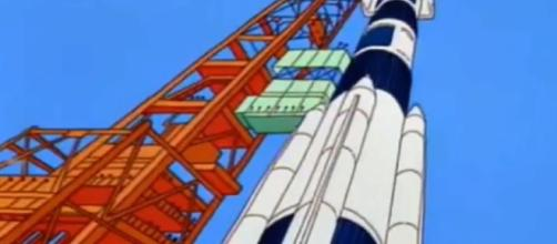 'The Simpsons' visit the Moon. - [FOX / YouTube screencap]