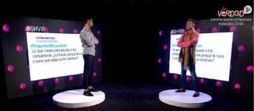 Asraf Beno y Ángel Garó responden a la audiencia. / Mediaset