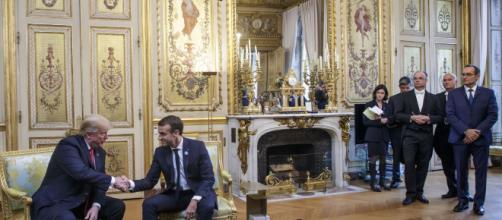 Donald Trump et Emmanuel Macron en entretien à l'Elysée ce samedi