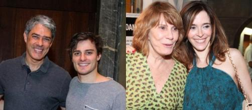 William Bonner e Hugo Bonemer são primos; já Renata Sorrah é tia de Deborah Evelyn