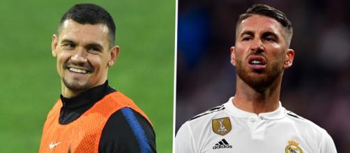 Real Madrid : Dejan Lovren tacle Sergio Ramos