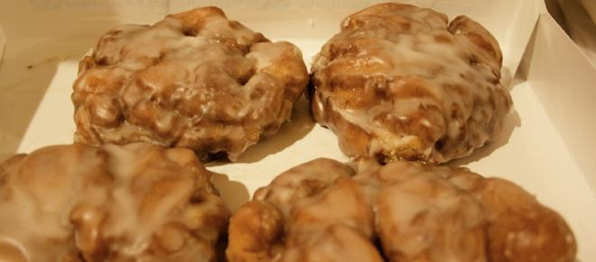 Simple apple fritters with cinnamon glaze recipe