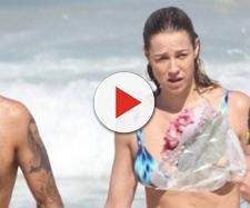 Luana e marido foram abordados na praia.