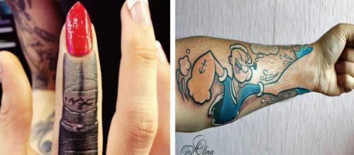 Alguns exemplos de tatuagens realistas que ficaram geniais utilizando técnicas de sombreamento ( Via Pinterest e Alina Fokina ).