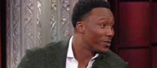 Brandon Marshall interview on television. - [The Late Show with Stephen Colbert / YouTube screencap]
