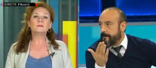 Cristina Fallarás y Jordi Cañas