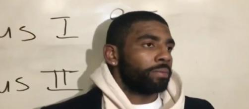 Kyrie Irving whines in interview about giving up 48 points. - [NBA TV / YouTube screencap]