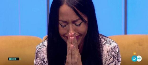 Aurah Ruiz se emociona al hablar de su hijo. / Telecinco