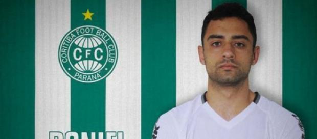 Daniel jogou pelo Coritiba em 2017 — Foto: Divulgação/Coritiba
