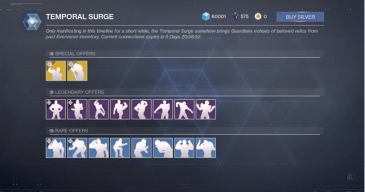 Destiny 2: Temporal Surge to go live today, data miner on