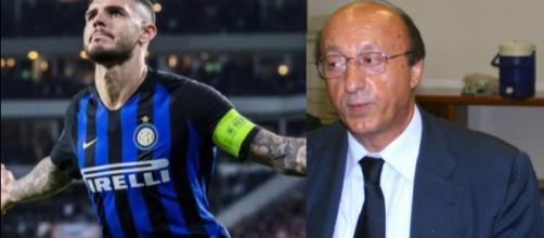 Le critiche di Luciano Moggi a Mauro Icardi, poco prima del gol al Barcellona: il video diventa virale