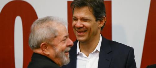 Lula ao lado do petista Fernando Haddad