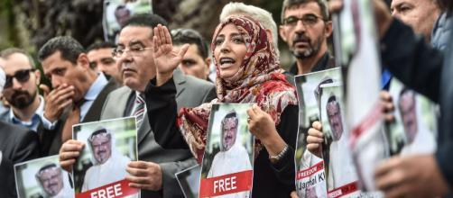 Manifestation pour retrouver Jamal Khashoggi, journaliste saoudien, avant l'annonce officielle de son assassinat