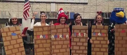 Middleton Heights school teachers draw controversy and national attention with Halloween costume. [Image Source: All of the Above - YouTube]