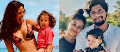 A atriz,Yanna Lavigne e o ator Bruno Gissoni modificaram toda a rotina para estarem mais tempo com a filha, Madalena. (Reprodução/Internet)