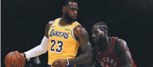 LeBron james and Kawhi Leonard - Image by basketballforever / Instagram