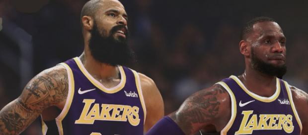 7a63ecebf15 LeBron James says Tyson Chandler isn t where he needs to be yet with Lakers