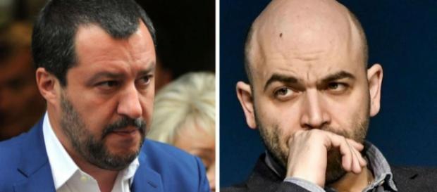 Nuovo scontro tra Matteo Salvini e Roberto Saviano sul decreto Sicurezza