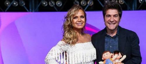 Apresentadora Eliana e o cantor Daniel (Foto: divulgação/SBT)