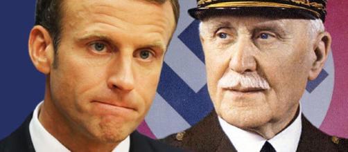 Emmanuel Macron y el Mariscal Philippe Pétain. El Presidente halaga al militar, pese a todo, por su actuación en la Gran Guerra.