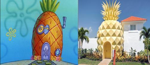 Essas casas são iguais aos desenhos animados.