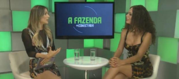 Fernanda Lacerda ficou sem graça ao falar sobre o polêmico assunto