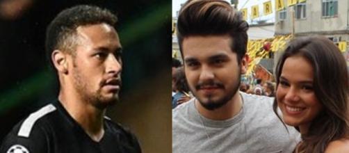Neymar, Luan Santana e Bruna Marquezine (Reprodução)