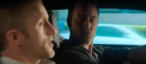Steve (Alex O'Loughlin) doesn't need much time to determine Danny's (Scott Caan) super power on Hawaii Five-O. [Image source-TVSeries-YouTube]