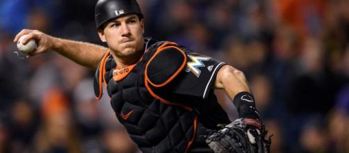 The Chicago Cubs have some interest in Marlins catcher JT Realmuto. - [MLB / YouTube screencap]