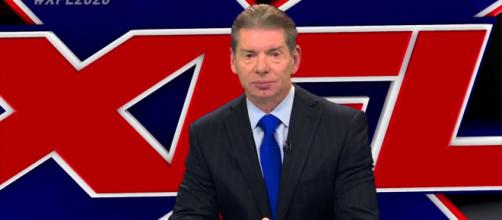 Vince McMahon is set to announce the first eight teams for the returning XFL football league. - [ESPN / YouTube screencap]
