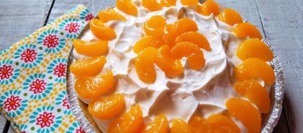 No-Bake Orange Creamsicle Pie - - (Image via blessedbeyondcrazy/Youtube screencap)