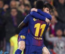 Messi e Dembélé (Imagem via Youtube)