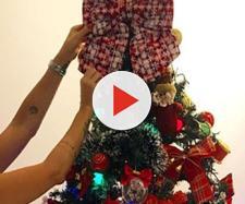 Antônia Fontelle mostrou a decoração de sua árvore de Natal (Reprodução: Instagram)