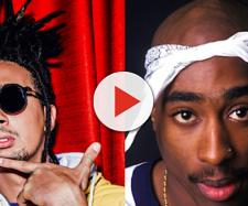 Ghali a sinistra, Tupac Shakur a destra