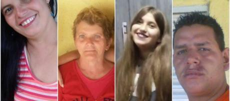 Marli, Catarina, Marina e Fernando foram algumas das vítimas (Reprodução/redes sociais).