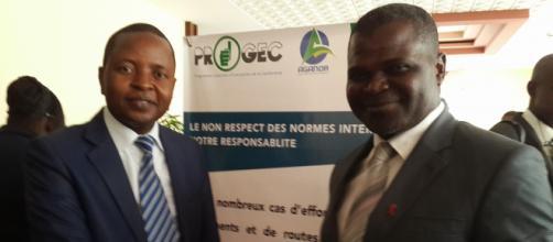 Delor Magelan Kamseu président de la LCC à gauche (c)google.com