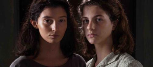 Le protagoniste Lila e Elena da adolescenti