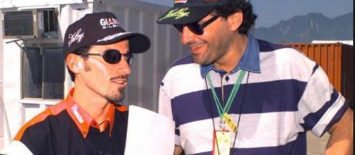 Max Biaggi con Fabrizio Frizzi.