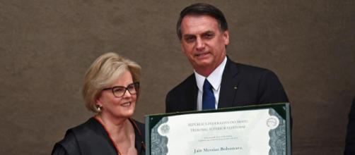Presidente do TSE, ministra Rosa Weber, discursou em cerimônia de diplomação de Bolsonaro (Foto Reprodução)