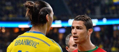 Zlatan Ibrahimovic e Cristiano Ronaldo (Imagem via Youtube)