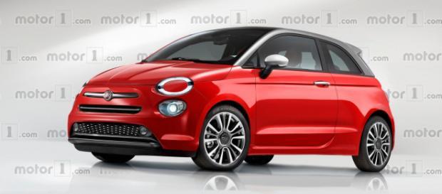 Rendering della futura Fiat 500 - motor1.com